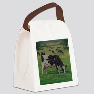 Holstein Milk Cow in Pasture Canvas Lunch Bag