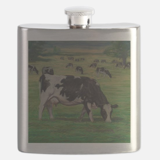Holstein Milk Cow in Pasture Flask