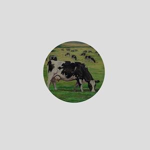 Holstein Milk Cow in Pasture Mini Button