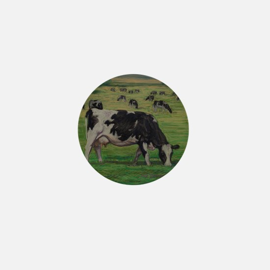 Holstein Milk Cow in Pasture Mini Button