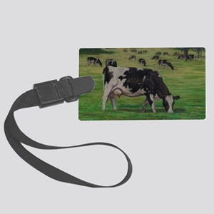 Holstein Milk Cow in Pasture Large Luggage Tag