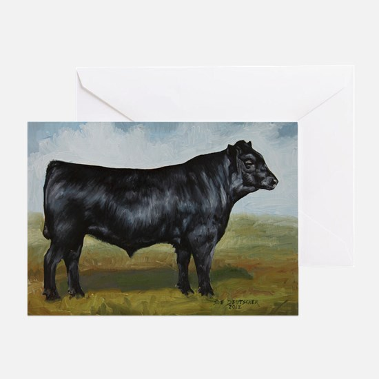 Black Angus Greeting Card