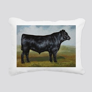 Black Angus Rectangular Canvas Pillow