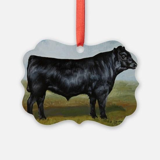 Black Angus Ornament