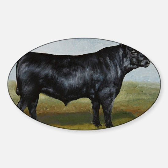 Black Angus Sticker (Oval)
