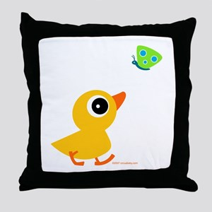 Distracted Duck Throw Pillow