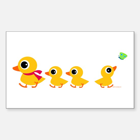 Distracted Duck Rectangle Decal