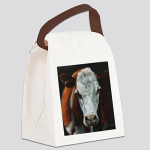Hereford Cattle Canvas Lunch Bag
