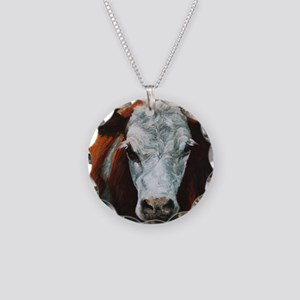 Hereford Cattle Necklace Circle Charm