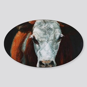 Hereford Cattle Sticker (Oval)