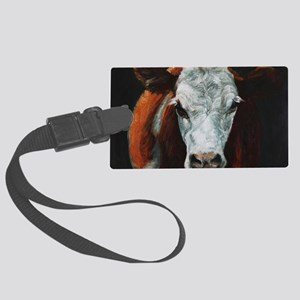 Hereford Cattle Large Luggage Tag