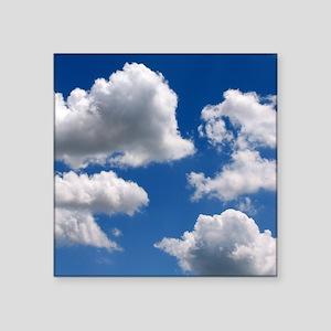 """Puffy Clouds Square Sticker 3"""" x 3"""""""