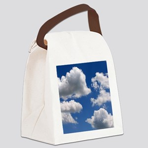 Puffy Clouds Canvas Lunch Bag