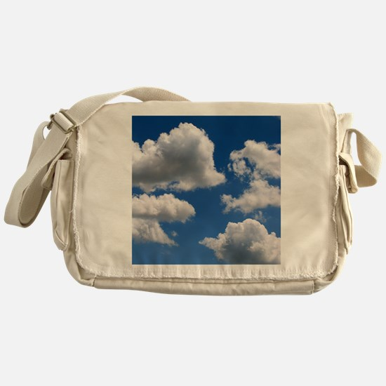 Puffy Clouds Messenger Bag