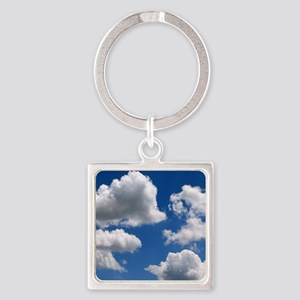 Puffy Clouds Square Keychain