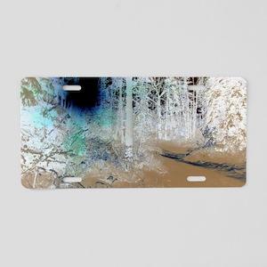 Ghost Woods Aluminum License Plate