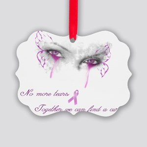 Breast Cancer Awareness - No More Picture Ornament
