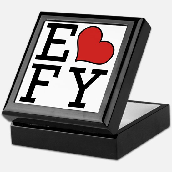 EFY Logo with Heart Transparent No Bo Keepsake Box