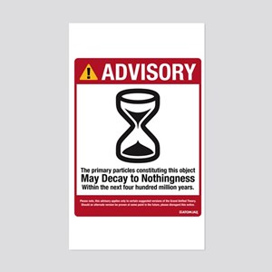 Advisory Rectangle Sticker