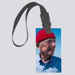 Jacques-Yves Cousteau, French di Large Luggage Tag