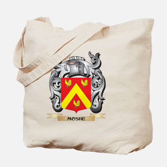 Moshe Coat of Arms - Family Crest Tote Bag