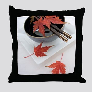 Japanese noodle bowl Throw Pillow