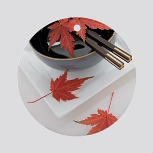 Japanese noodle bowl Round Ornament
