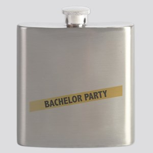 Bachelor Party Girls Police Tape Flask