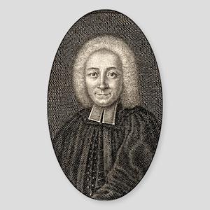 Johann Jakob Brucker, German histor Sticker (Oval)