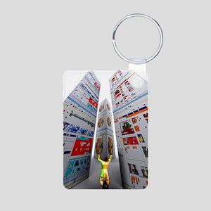 Worshipping the internet Aluminum Photo Keychain