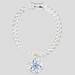 Blue Atom Charm Bracelet, One Charm