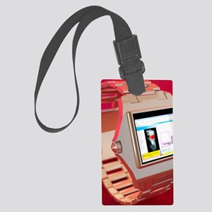 Wrist watch computer, computer a Large Luggage Tag