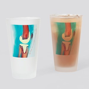 Knee joint prosthesis, X-ray Drinking Glass
