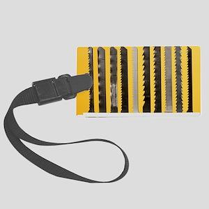 Jigsaw blades Large Luggage Tag