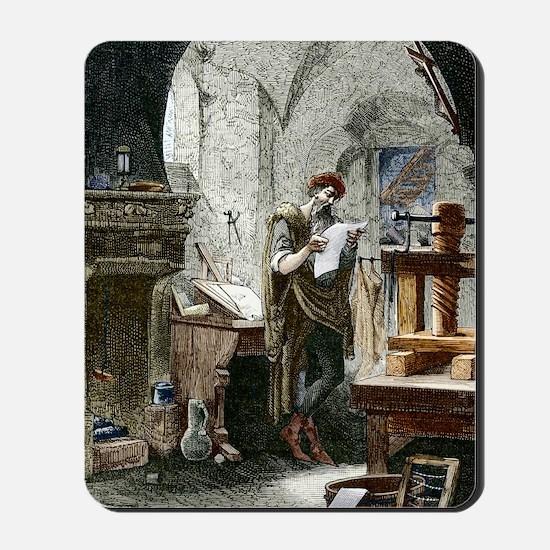 Johann Gutenberg, German inventor Mousepad