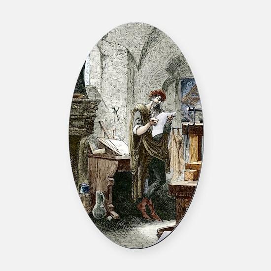 Johann Gutenberg, German inventor Oval Car Magnet