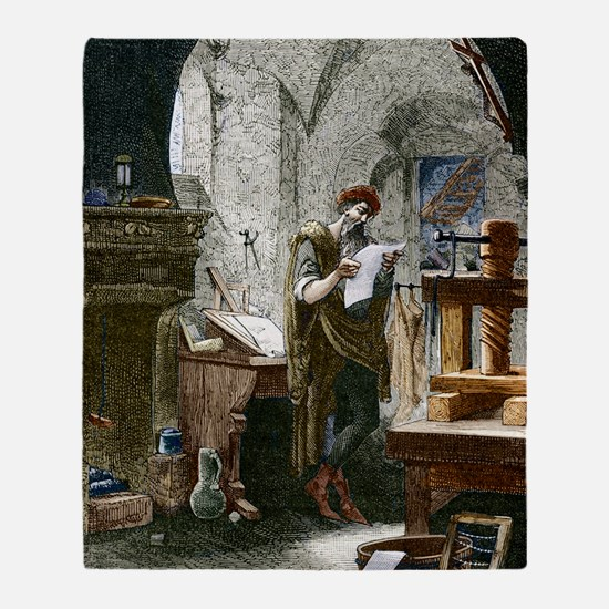 Johann Gutenberg, German inventor Throw Blanket