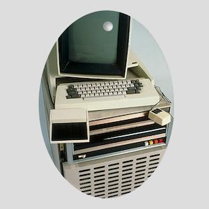 Xerox Alto computer Oval Ornament