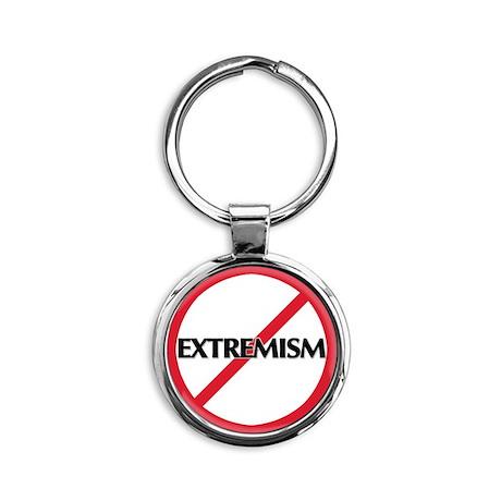 No Extremism Round Keychain