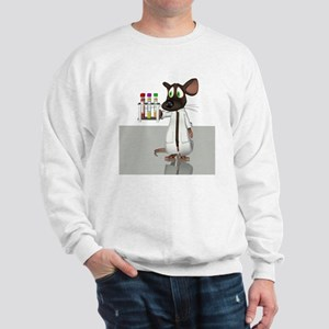 Laboratory mouse, conceptual artwork Sweatshirt