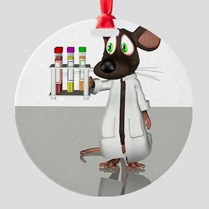 Laboratory mouse, conceptual artwor Round Ornament