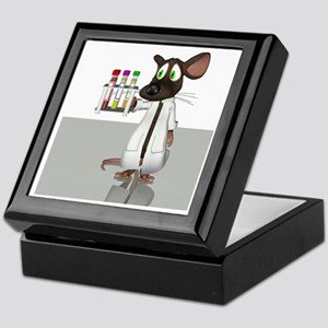 Laboratory mouse, conceptual artwork Keepsake Box