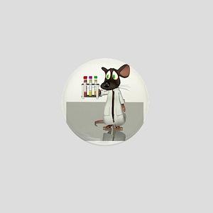 Laboratory mouse, conceptual artwork Mini Button