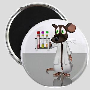 Laboratory mouse, conceptual artwork Magnet