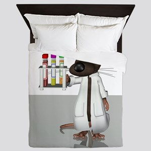 Laboratory mouse, conceptual artwork Queen Duvet
