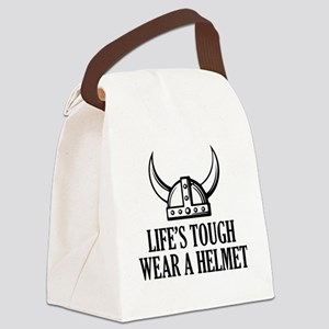 norseHelmetTough1B Canvas Lunch Bag