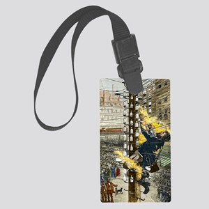 John Feeks being electrocuted, 1 Large Luggage Tag
