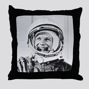Yuri Gagarin Throw Pillow