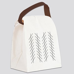 Zoellner illusion Canvas Lunch Bag