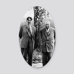 Kurchatov and Ioffe, Soviet physic Oval Car Magnet